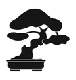 Bonsai icon in black style isolated on white vector image