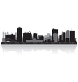 Winnipeg Canada city skyline silhouette vector image
