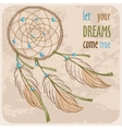Dreamcatcher card vector image