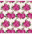Pink pattern with roses inflorescence vector image vector image