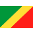 republic of the congo flag vector image vector image
