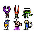 character costume set vector image vector image