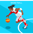Basketball 2016 Summer Games 3D Isometric vector image vector image