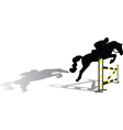 jockey vector image