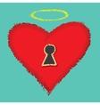 Open your heart vector image