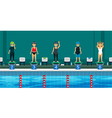 Swimming competitions vector image