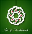 Christmas garland applique vector image vector image