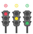 traffic light icons vector image
