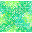 jungle day ink hand drawn seamless pattern vector image vector image