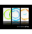 3 abstract gift cards vector image