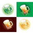 four variation of beer tankards of stpatrick holid vector image vector image