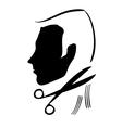 hair cutting symbol vector image