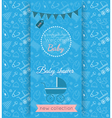 baby blue card with blurred background vector image