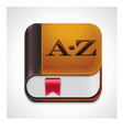 book with bookmark xxl icon vector image