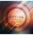 Circular futuristic background vector image