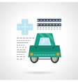 Driver medical insurance flat color icon vector image