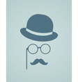 Hat glasses and mustache vector image