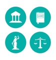 Law and justice icon set design vector image