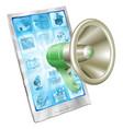 megaphone icon phone concept vector image