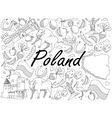 Poland coloring book vector image