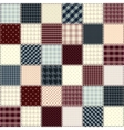 Quilting design in chess order Seamless vector image