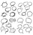 set of empty comic style speech bubbles design vector image