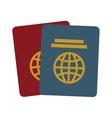 two passport identification tourist vector image