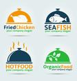 various food logos vector image
