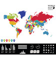 world map info graphics vector image