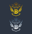 initial letter b with wings logo vector image vector image