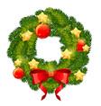 Christmas festive decorative wreath vector image vector image