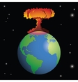 Nuclear weapon exploding on Earth vector image vector image