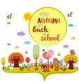 enjoy autumn and back to school autumn banner vector image