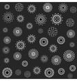 Seamless Jumble Flower Ornament Pattern vector image