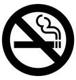 No Smoking Symbol vector image