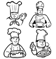 Chef and baker vector image