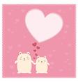 Cute Bears and big heart vector image