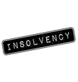 Insolvency rubber stamp vector image