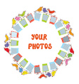 Photo frame composition - funny design vector image