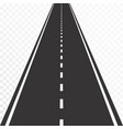 road with markings straight asphalt road in vector image