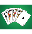 Royal Flush of Clubs vector image