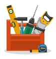 Tools in toolbox vector image