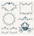 Vintage royalty frames with crown diadems vector image