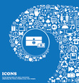 chest icon Nice set of beautiful icons twisted vector image