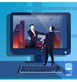 businessmen handclasp in vector image vector image