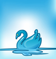 swan background vector image vector image