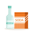 soda in a craft paper bag and glass bottle of vector image
