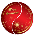 abstract golden and red christmas cards vector image