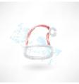 Santa hats grunge icon vector image vector image