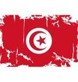 Tunisian grunge flag vector image vector image